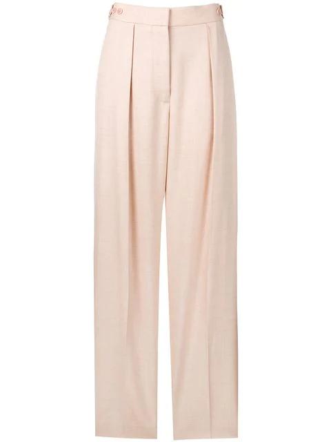 Stella Mccartney Wide-Leg Pants In Pink