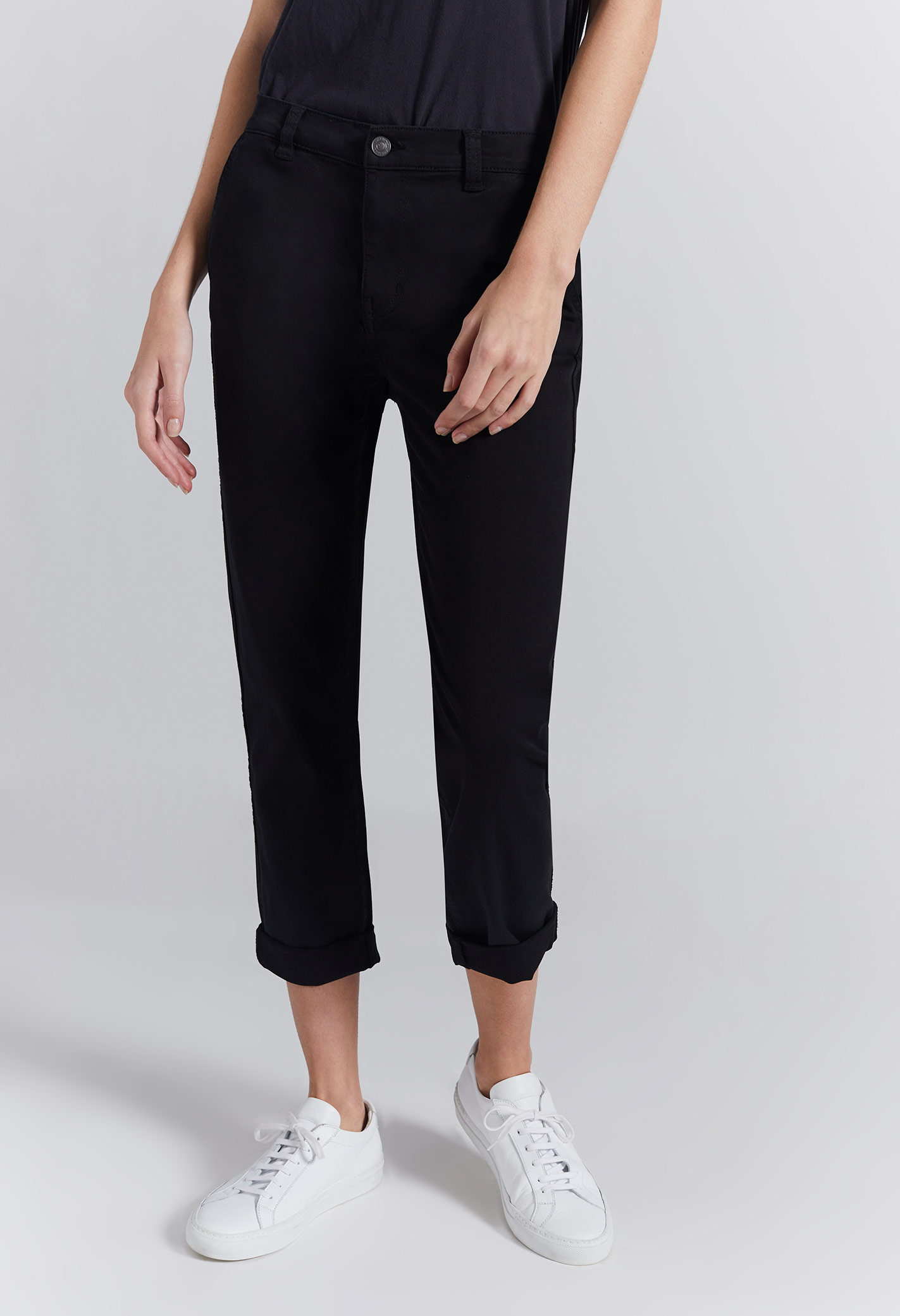 Current Elliott The Confidant Pant In 0 Clean Black
