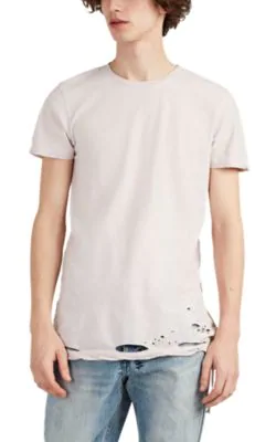 Ksubi Sioux Distressed Cotton T-Shirt In Pink