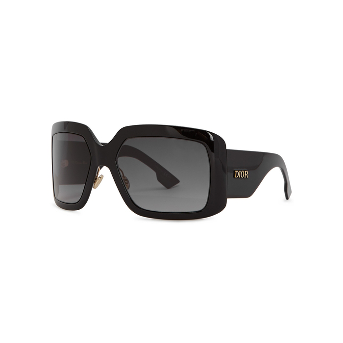 b1294c382f14 Dior Solight2 Square-Frame Sunglasses In Black