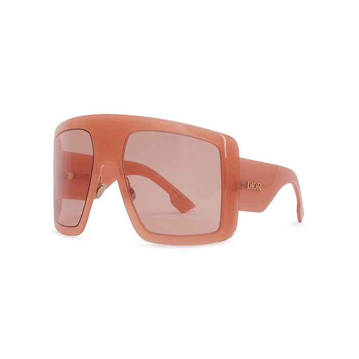 50a89fa071 Dior Solight1 Peach Oversized Sunglasses In Pink