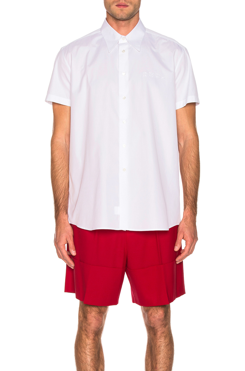 Raf Simons Embroidered Shirt In White