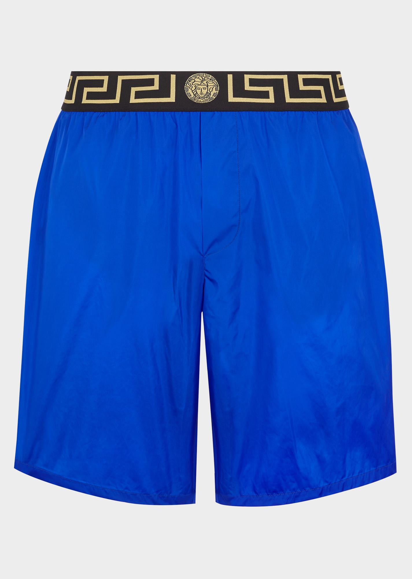 4ea1e711da Medusa And Greek Key Swim Shorts in Blue