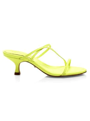 00b325d5713 Schutz Evenise Strappy Kitten Heel Sandals In Neon Yellow