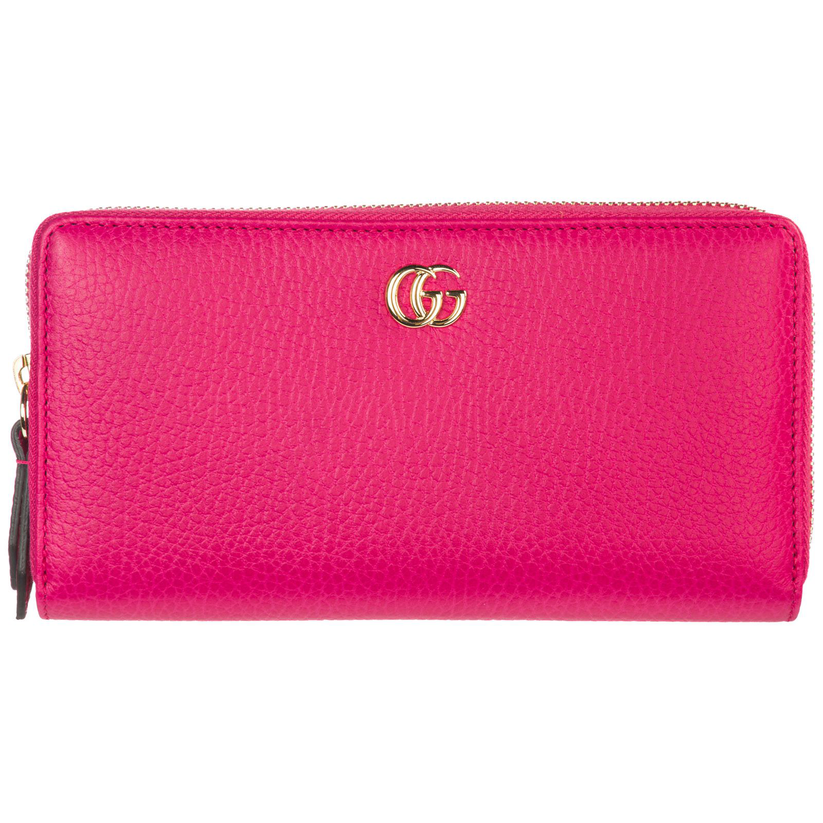 72c41b0233c2 Gucci Wallet Genuine Leather Coin Case Holder Purse Card Bifold In Fucsia