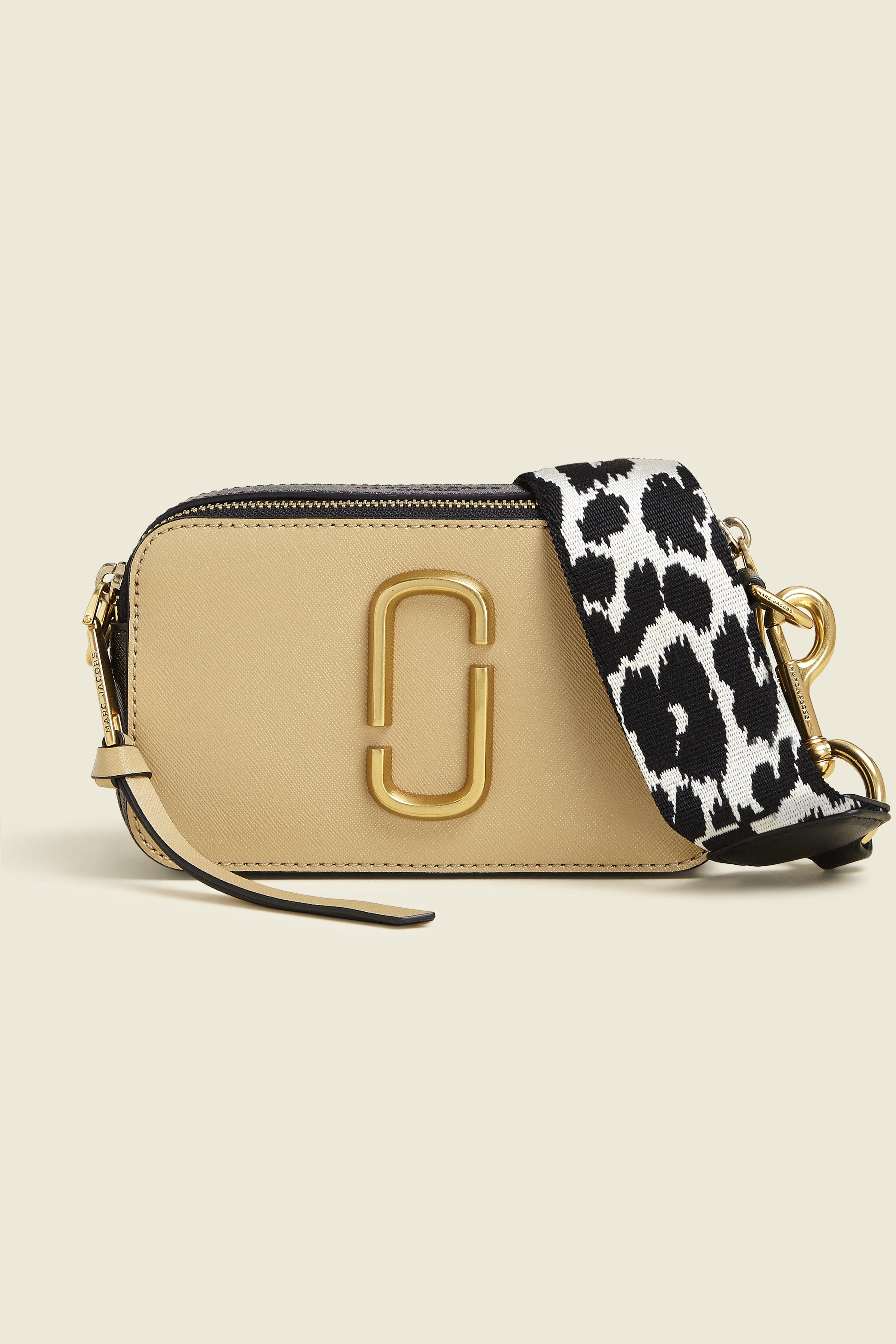6e5a1d4fb7e0 Marc Jacobs Snapshot Camera Bag In Black And Chianti Split Cow Leather In  Sand