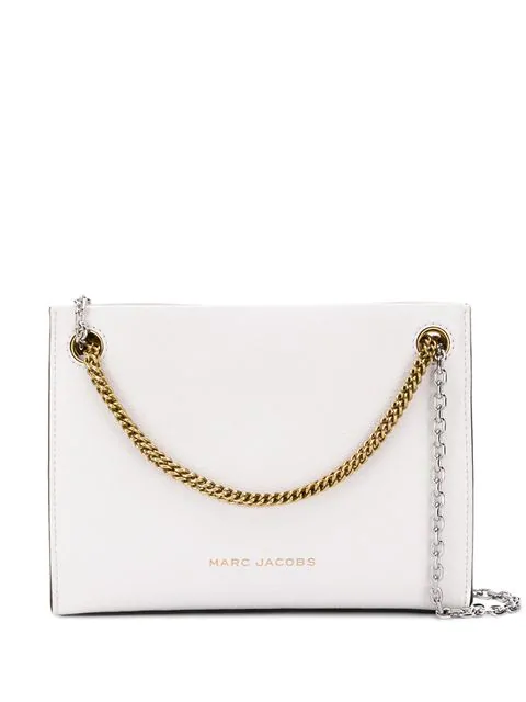 Marc Jacobs Double Chain Crossbody Bag In White