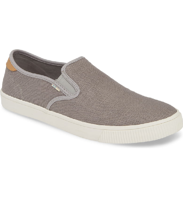 Toms Baja Slip-On In Grey Canvas