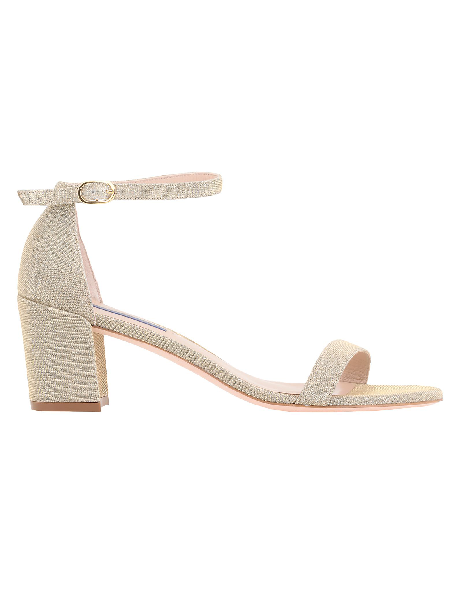 Stuart Weitzman Simple Sandal In Platino