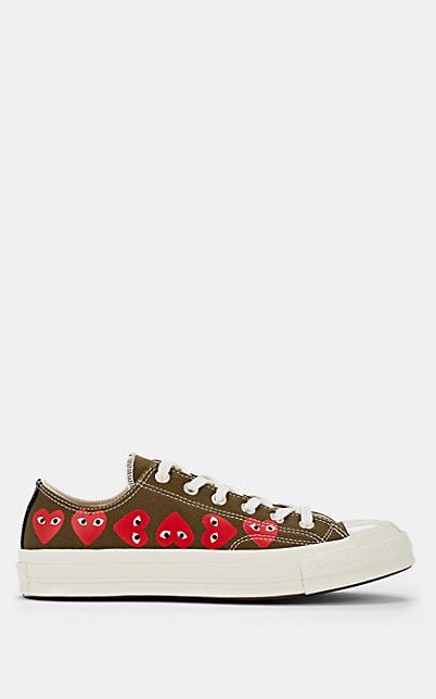 cheapest uk cheap sale outlet on sale Comme Des Garcons Play Khaki Converse Edition Multiple Hearts Chuck 70 Low  Sneakers in Dk. Green