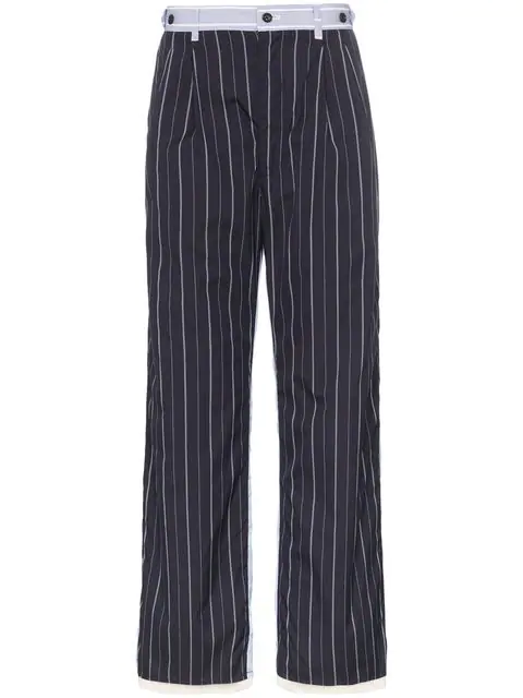 Children Of The Discordance Pinstripe Straight-leg Trousers In Blue