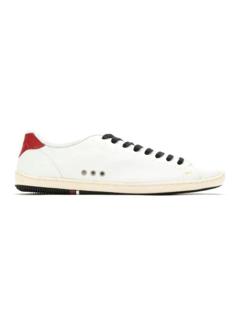 Osklen Panelled Leather Sneakers In White