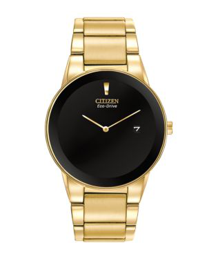 Citizen Eco-drive Yellow Goldtone Stainless Steel Watch
