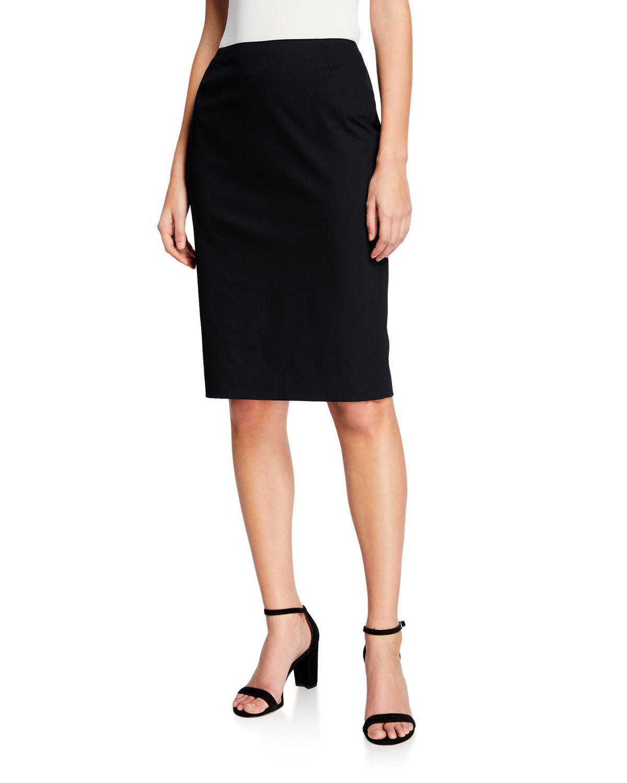 823ed3a3d10c Lafayette 148 Modern Slim Cotton-Stretch Pencil Skirt In Black ...