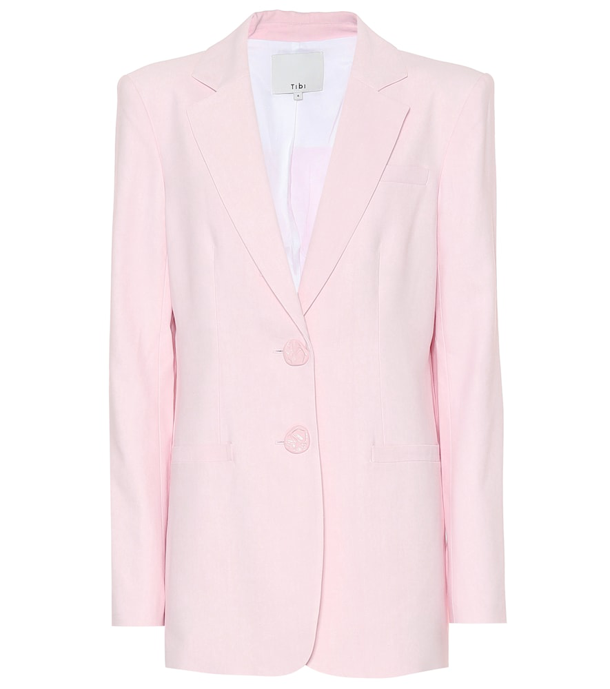 Tibi Single-breasted Blazer In Pink