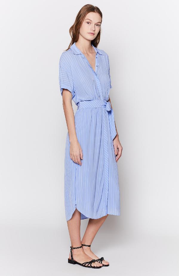 Joie Chellie Striped Short-Sleeve Shirtdress In Sunset Blue