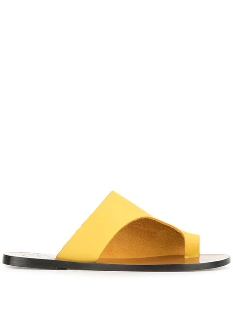 Atp Atelier Rosa Sandals In Yellow