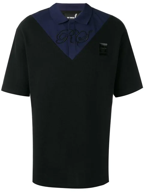 Fred Perry Two Tone Polo Shirt In Black