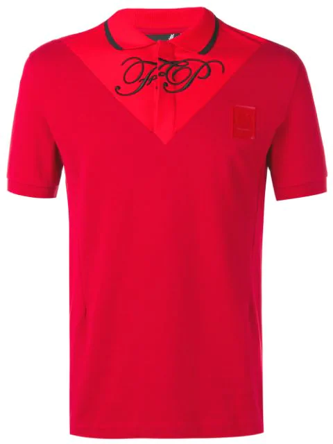 Fred Perry Embroidered Logo Polo Shirt In Red