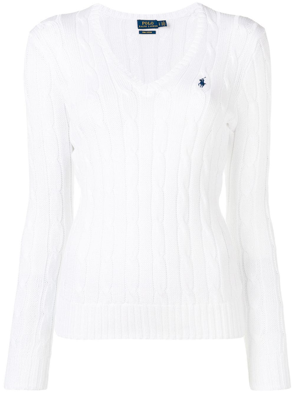 Cable Pullover Knit Lauren White Polo Ralph m08nNw