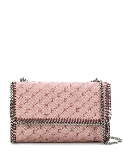 Stella Mccartney Falabella Monogram Crossbody Bag In Pink