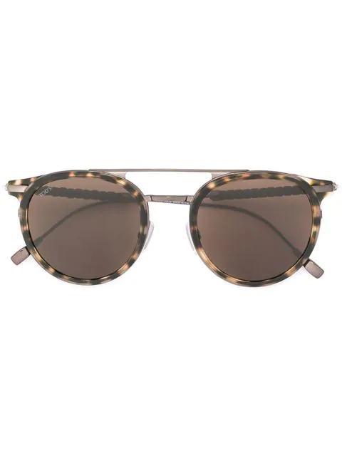 Tod's Aviator Frame Sunglasses In Brown
