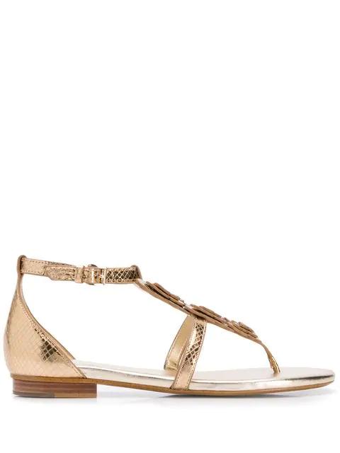 Michael Michael Kors Felicity Sandals In Gold