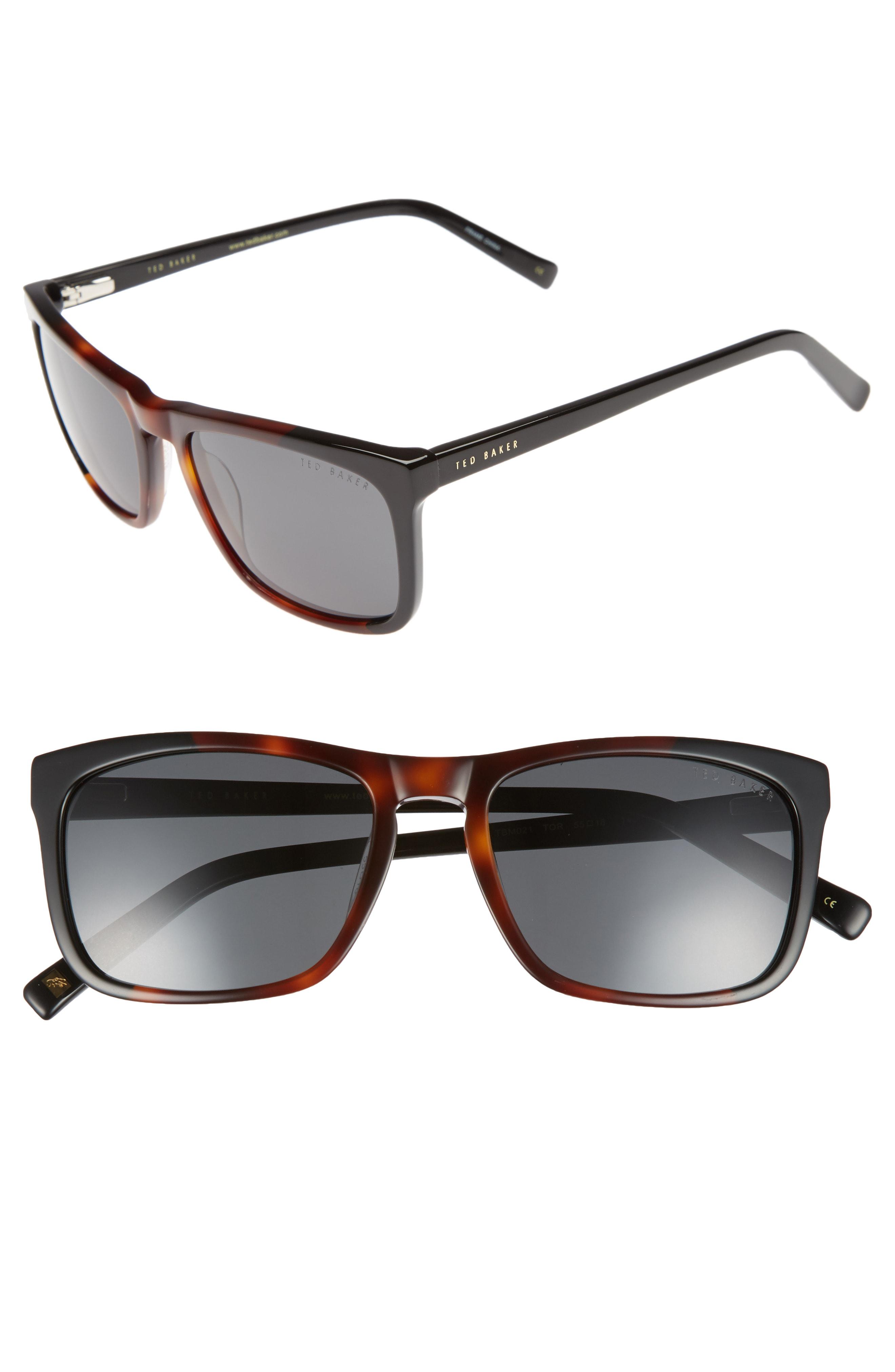 46f34e70d4 Ted Baker 55Mm Polarized Sunglasses - Tortoise