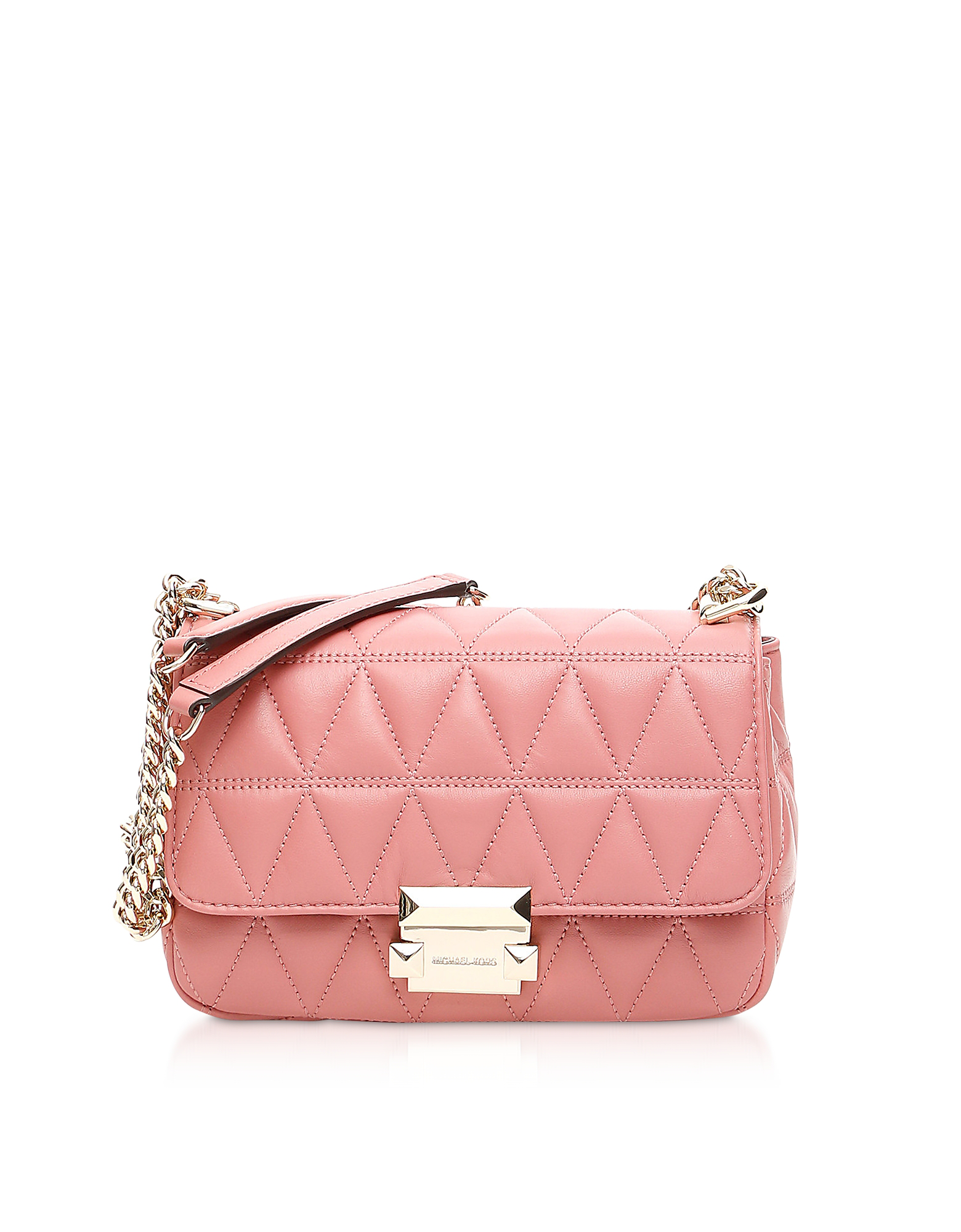 Sloan Small Quilted leather Shoulder Bag In Rose