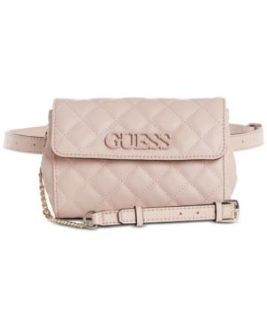 Guess Elliana Convertible Crossbody Belt Bag In Blush/Gold