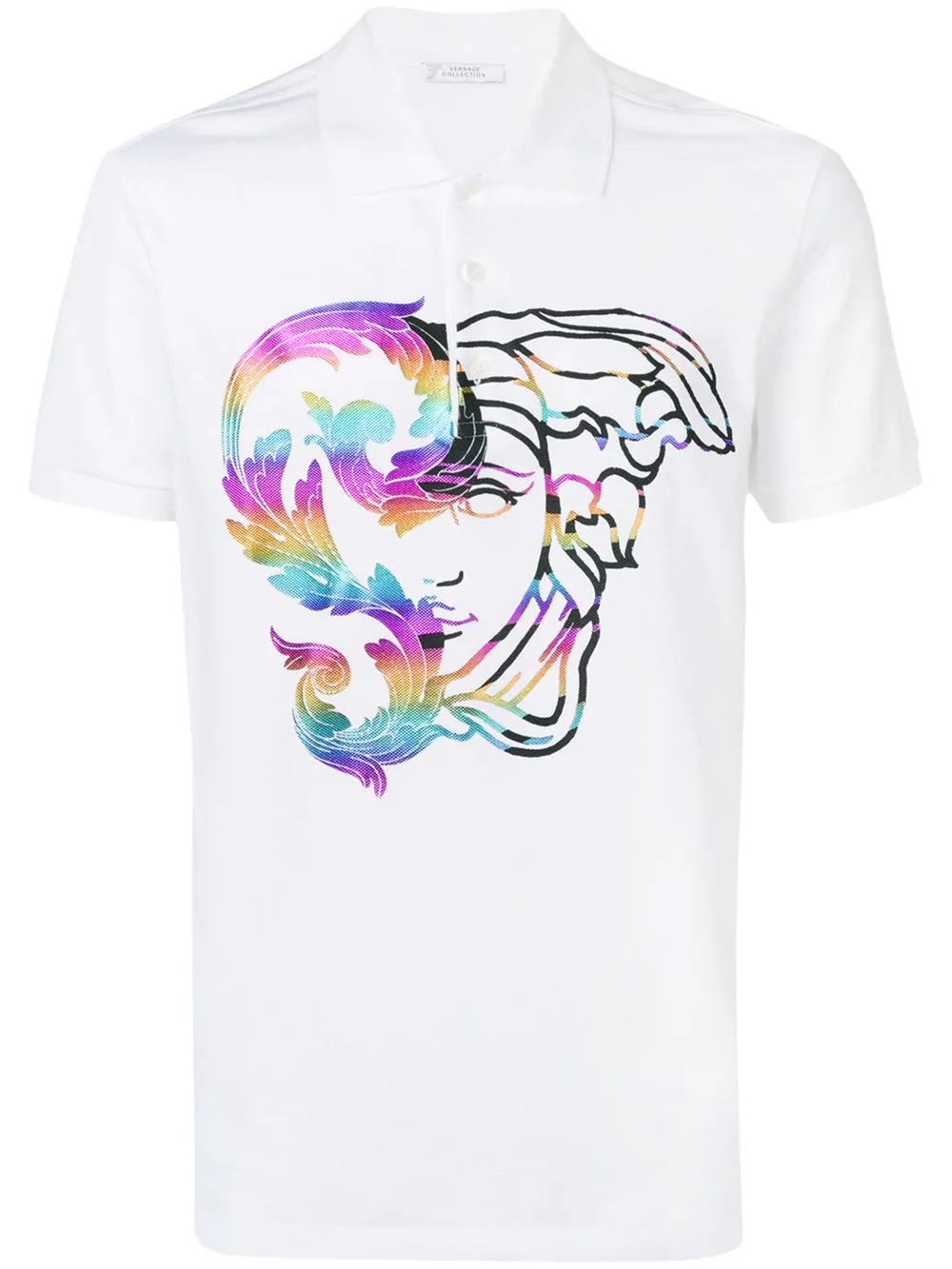 6e0bb63525f Versace Collection Printed Medusa Polo Shirt - White