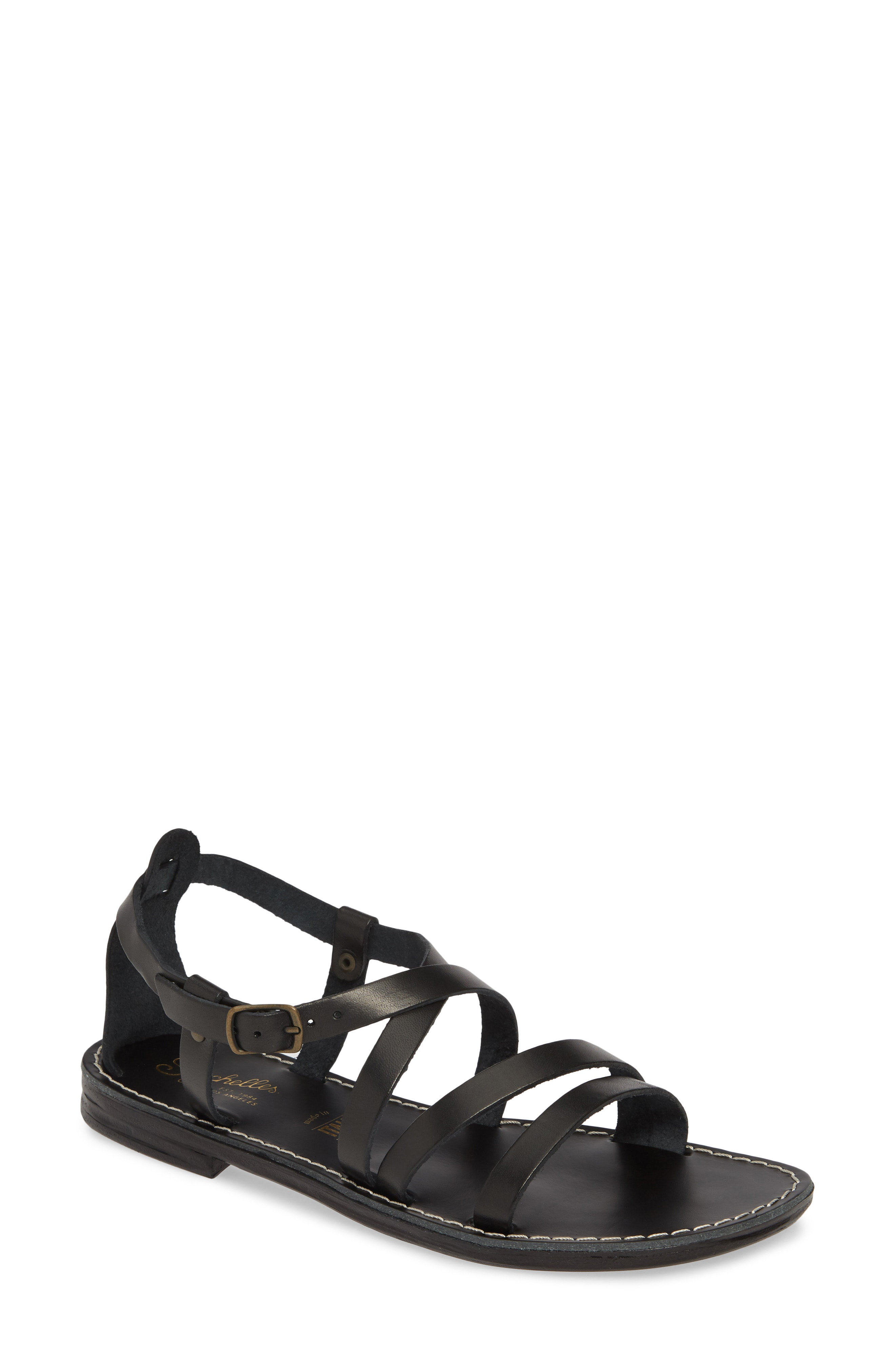 870595fc93eb5 Seychelles Upcycle Strappy Sandal In Black Leather