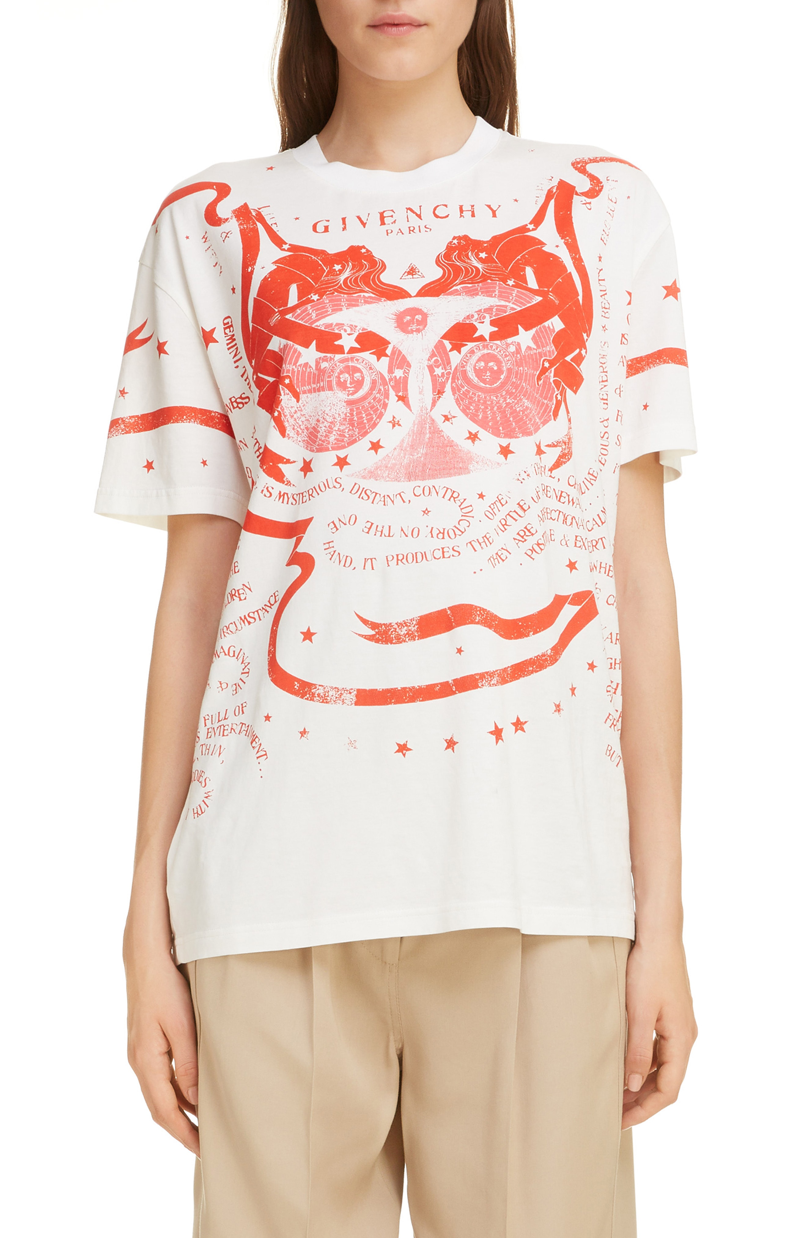 a9bf9bf7f Givenchy Gemini Graphic Tee In White | ModeSens