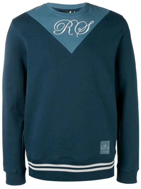 Fred Perry Two Tone Sweatshirt In Blue