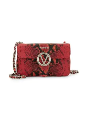 4495ce14c1c VALENTINO BY MARIO VALENTINO. Poisson Python-Embossed Leather Crossbody Bag  ...