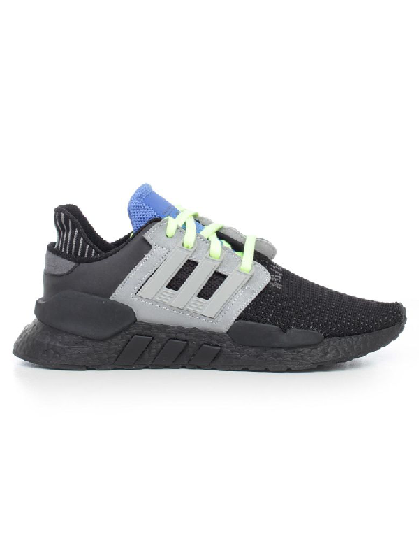 Eqt Support 9118 Knitted Low Top Sneakers in Cblack Gretwo Realil