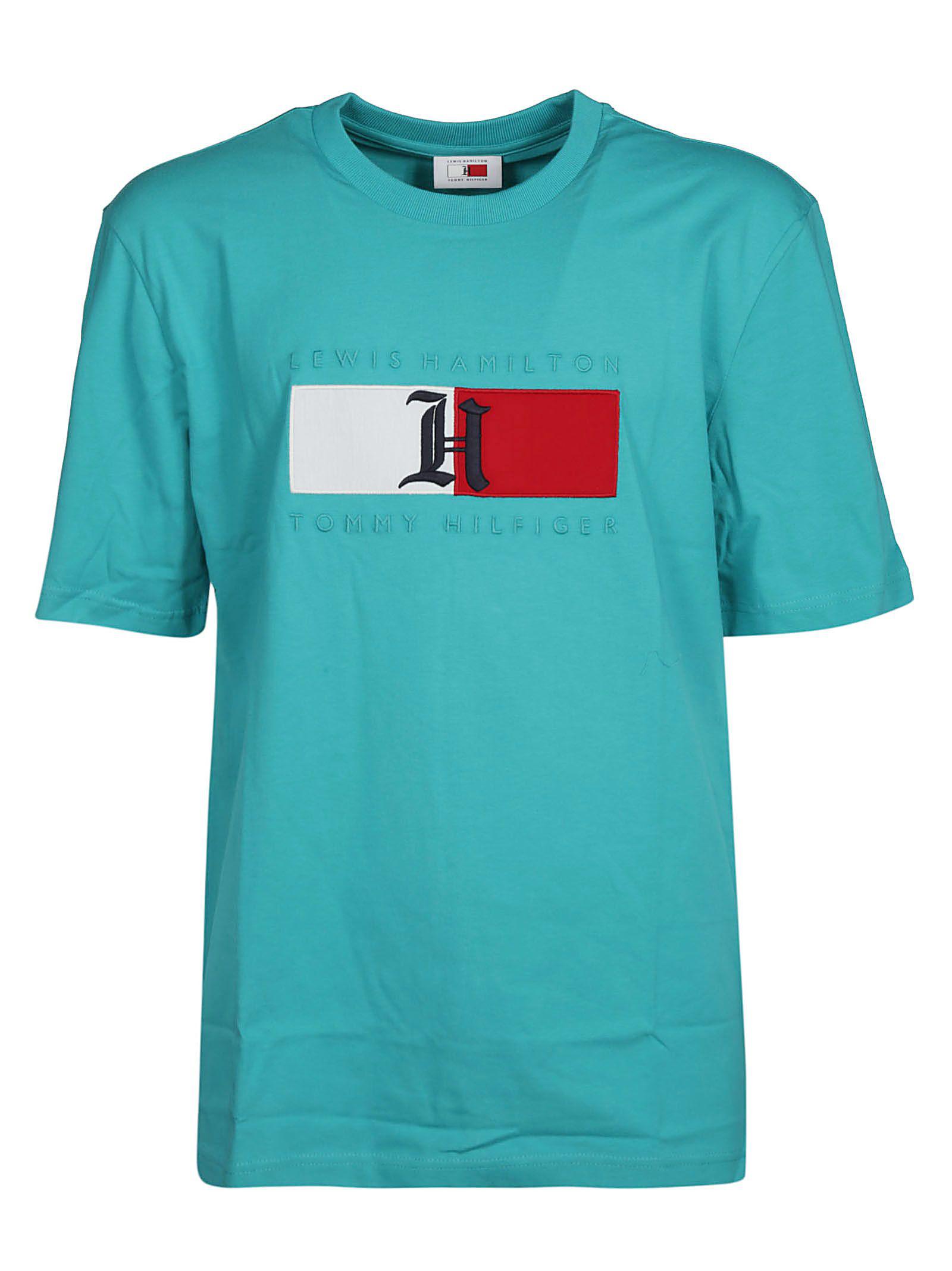 396796b34 Tommy Hilfiger Lewis Hamilton Logo T-Shirt In Viridian Green