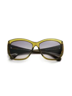 e062e52adf26 Balenciaga 58Mm Modified Square Cat-Eye Sunglasses In Dark Green ...
