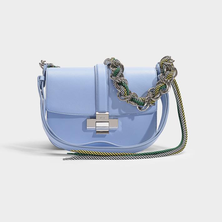 N°21 N21 | Lolita Bag In Black Calfskin In Blue