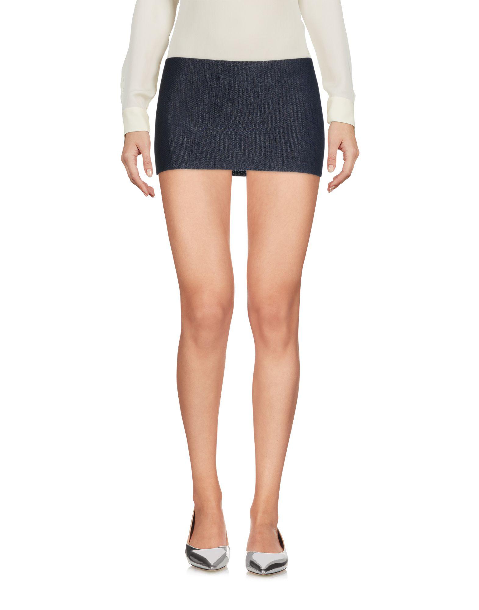 Calvin Klein Collection Mini Skirt In Dark Blue