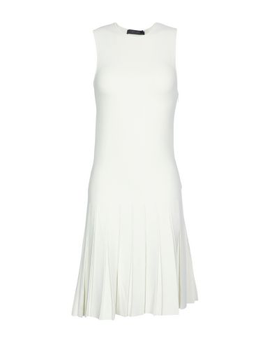 Calvin Klein Collection Short Dress In Ivory