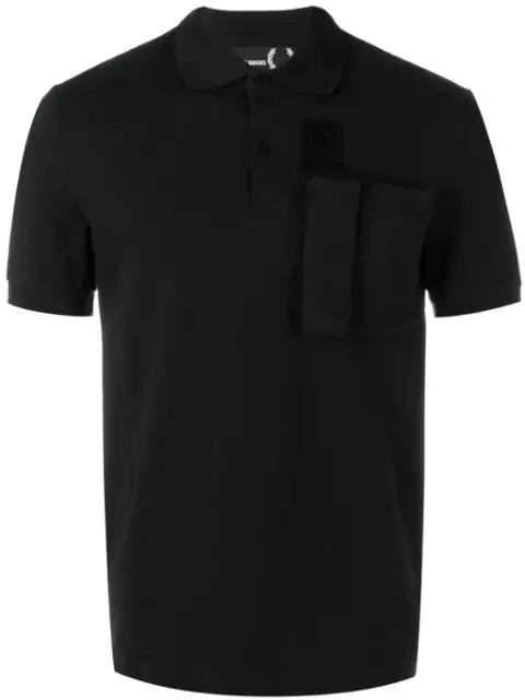 Fred Perry Cargo Pocket Polo Shirt In 102 Black