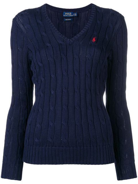Polo Ralph Lauren Logo Embroidery Sweater In Blue