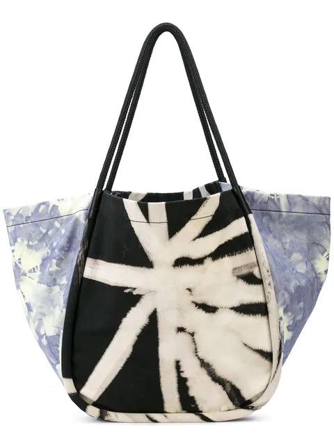 Proenza Schouler Tie-dye Xl Tote Bag In Black