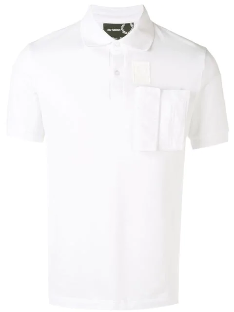 Fred Perry Cargo Pocket Polo Shirt In 100 White
