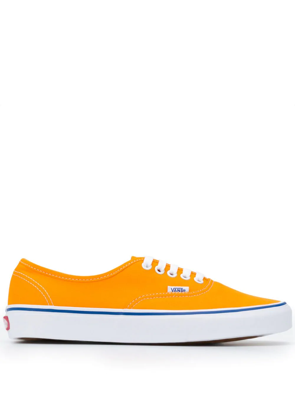 6382701fac13b5 Yellow canvas Authentic Lo Pro sneakers from Vans featuring an almond toe