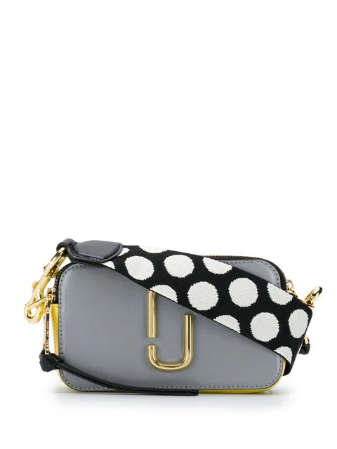 Marc Jacobs The Snapshot Coated Leather Camera Bag In 036 Rock Gr