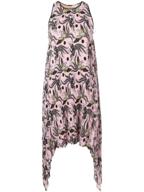 Kenzo Flying Phoenix Dress In 33 Rosepastel