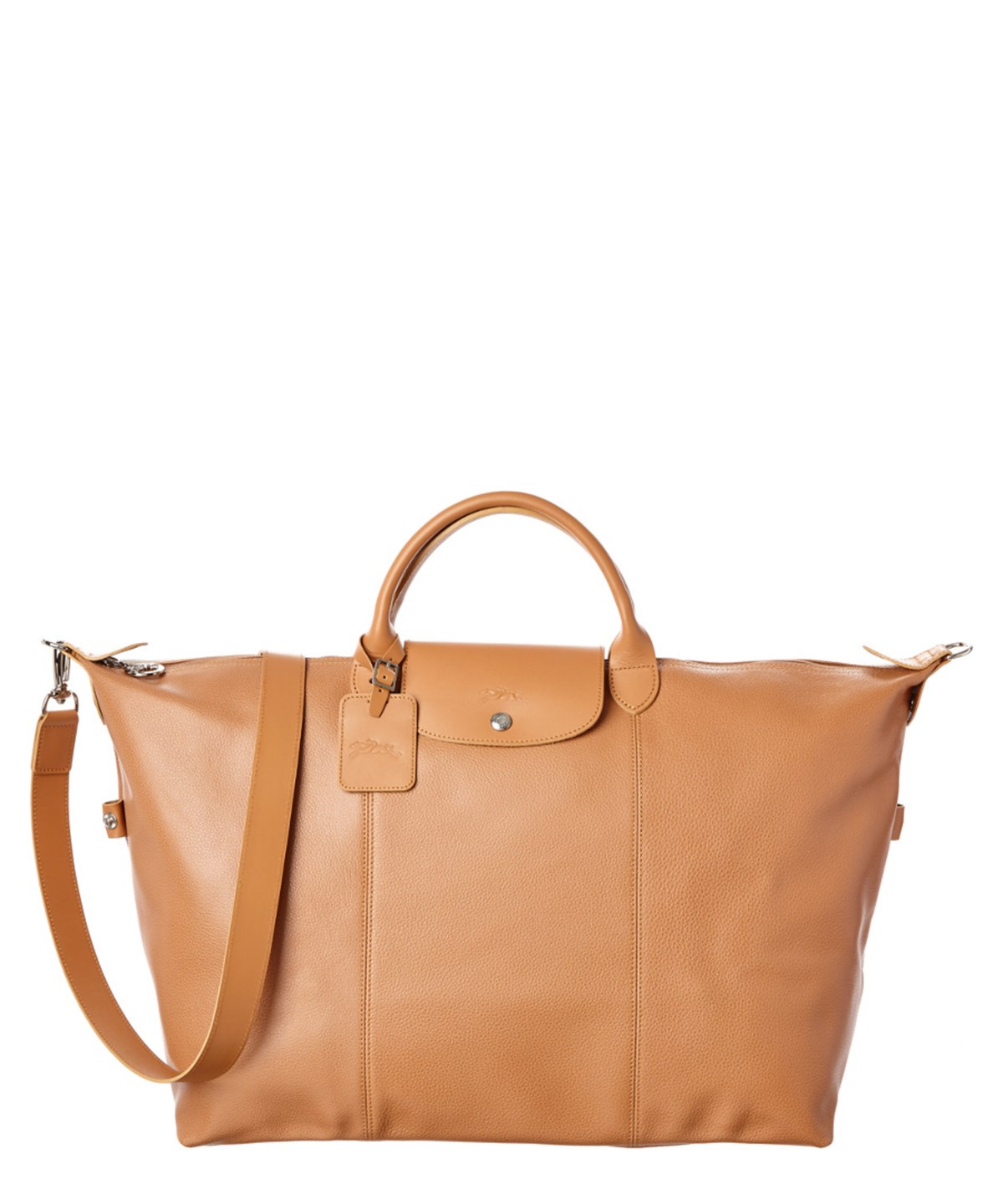 Longchamp Le Foulonne Large Leather Travel Bag' In Natural