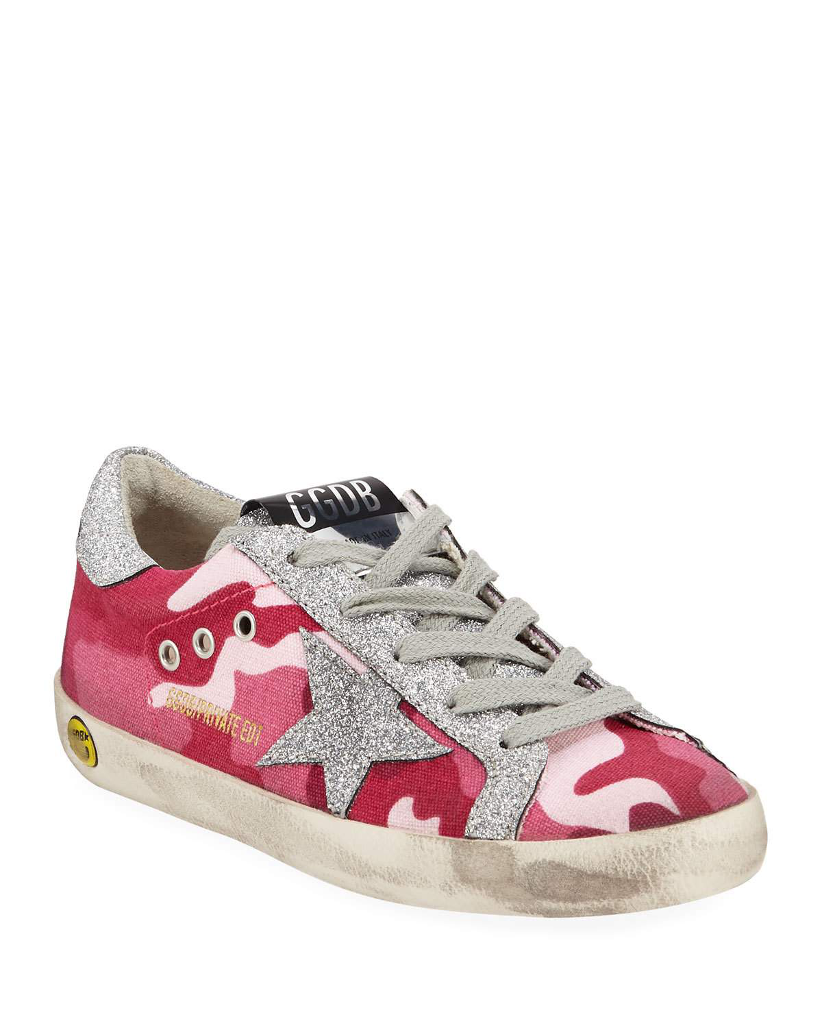 4e17858d4bfb3 Golden Goose Girls' Superstar Glittered Camo Low-Top Sneakers, Baby/Toddler  In